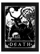 Deadly Tarot Print Justice Black Wooden Framed 35 x 45cm