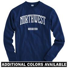 Northwest Territories Canada Long Sleeve T-shirt - LS Men S-4X - Yellowknife CA