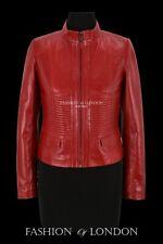 SUPREME Ladies Jacket Red Casual Cool Flight Coat Genuine Leather Jacket
