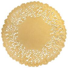 "4"" 6"" 8"" 10"" 12"" Metallic GOLD FOIL Paper Lace Doilies | Gold Doily CHARGER"
