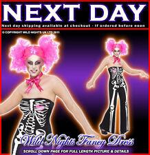 HALLOWEEN FANCY DRESS COSTUME # LADIES SASSY SKELETON JUMPSUIT MEDIUM 12-14