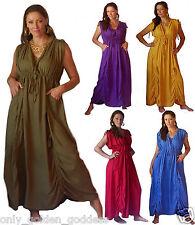 pick color maxi caftan dress empire goddess lagenlook l xl 1x 2x 3x 4x 5x os