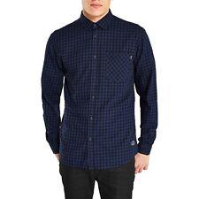 Jack & Jones Core Coastro L/S Check Shirt Slim S-L RRP £33.99 BNWT Medieval Blue