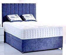 LAVISH NEW CHENILLE FABRIC DIVAN BED BASE 3FT,4FT,4FT6,5FT,6FT  ***FREE P&P**