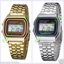 Classic Gold/Silver Metal 80's Fashion Vintage Digital Display Retro style Watch