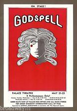 "Stephen Schwartz ""GODSPELL"" Rare 1973 Palace Theatre, Milwaukee Flyer"