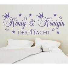 Wandtattoo Spruch König und Königin der Nacht Wandsticker Aufkleber Sticker 4