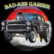 55 Chevy Bad Ass Gasser Hot Rod T-shirt 100% Cotton Small to XXXXXL