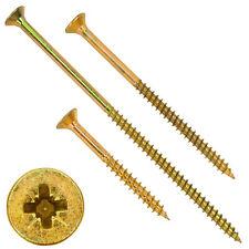 Spanplattenschrauben Kreuzschlitz gelb verzinkt Senkkopf  PZ Teilgewinde Stahl