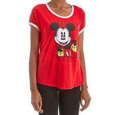 New Disney's Mickey Mouse Juniors' Womens Ringer T-Shirt