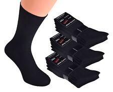 10-100 Paar schwarze Herren Damen Socken ohne Gummi Diabetiker ohne Naht 35 - 50