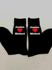 Calcetines de Hombre Personalizado Corazón Amor Regalo De Navidad presente cualquier nombres novio