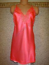 NWT Victoria's Secret: S, M, Slip Chemise Babydoll Coral Red Orange Polyester