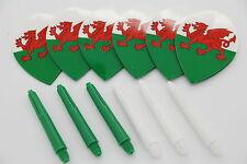 Wales Birnenförmig dart flights & dart schäfte set