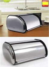 Panera de acero sobremesa Encimera Pan Bollos grande puerta corredera 2 tamaños