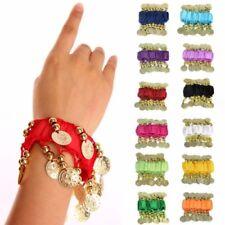 2 PIECES Wrist Wear Belly Dancing Dance Elastic Arm Cuff Hand Coins Bracelet