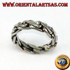 Anillo anillo de compromiso de plata 925 ‰ en cadena bizantino