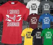 He sobrevivido Sharknado T camisa Top Funny Cine B Cool Moda Tumblr Top Hipster