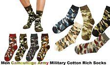 Tattici dell/'esercito Calze lunghe e calde militare cotone avvio calzini B1B9