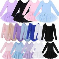 Toddler Girls Gymnastics Leotard Dress Ballet Dance Tutu Skirt Ballerina Costume