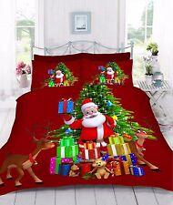 Digital 3d Stampato regali di Natale Piumone Set di biancheria da letto con copripiumone disponibile in e Federa