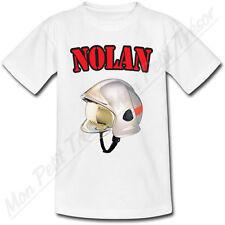 T-shirt Enfant Casque Sapeur Pompier avec Prénom Personnalisé