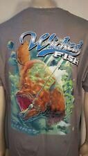 Wicked Fish Fighting Bucktail Fluke Fishing USA America Mens T Tee Shirt S-3XL
