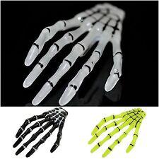 Punk Skeletthand Haarclip Haarklammer Halloween Skelett Knochen Hand