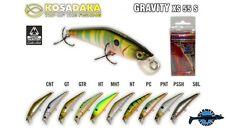 Leurre poisson nageur Gravity XS 55S KOSADAKA 63mm 6,9gr pêche perche truite