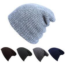 Warm Men Women  Skull Knit Baggy  Ski Slouchy Knitted Cap Hat One Size