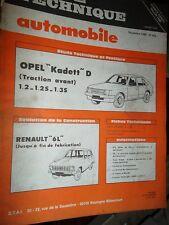 Opel KADETT D 1.2-1.2S-1.3S : revue tech RTA 405