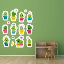 Cactus mignon Plante épineuse Sticker Muraux Set WS-46985