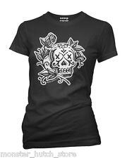 La Rosa Day Of The Dead Skull Tattoo Tee Shirt Aesop Originals Clothing
