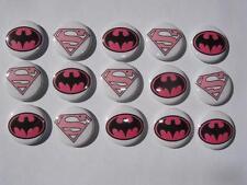 Pink super heros buttons flat back or pin badge cabochons embellishments magnet