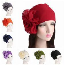 Fashion Women's Flower Size Hat Beanie Turban Bonnet Hijab Elastic Chemo Cap