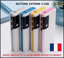CHARGEUR EXTERNE TÉLÉPHONE 100000MAH 3 USB 1A BATTERIE TABLETTE POWERBANK