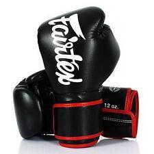 FAIRTEX MUAY THAI KICK BOXING GLOVES BGV14 BLACK COLOR MMA SAVE TRAINING PUNCH