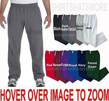 Gildan BIG MENS Open Bottom Warm Sweatpants NO POCKETS Sizes 2XL 3XL 4XL 5XL NEW
