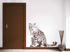 Leopard - Leo Katze Deko Wohnzimmer Schlafzimmer Afrika Wandaufkleber WandTattoo