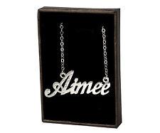Collar Con Nombre Aimee – 18K Chapado En Oro Regalo Novia Familia Colgante
