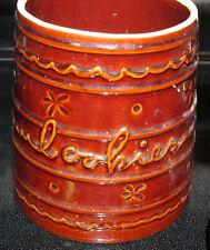 Vintage Marcrest Southwest Brown Daisy Dot Cookie Jar No Lid Utensil Holder