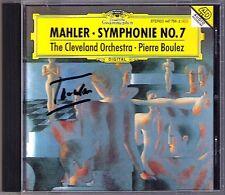 Pierre Boulez firmato MAHLER SYMPHONY NO. 7 Cleveland Orchestra DG CD Filarmonica