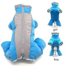 Windproof Warm Pet Dog Coat Hoodie Winter Thick Jacket Clothes Jumpsuit Snowsuit