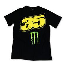 Nuevo Oficial Cal Crutchlow 35 Monster Camiseta Negro