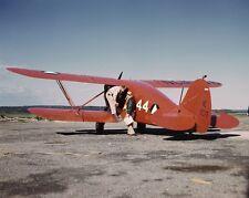 Civil Air Patrol biplane at base in Bar Harbor Maine WWII 1943 Photo Print