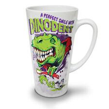Dinosaurio Sonrisa Nuevo Blanco Té Café Taza de café con leche 12 17 OZ (approx. 481.93 g) | wellcoda