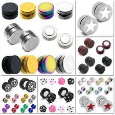 1 Paar Ohrstecker Ohne Loch Fakeplugs Ohrring Clip Magnet Fake Piercing Stern