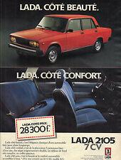 PUBLICITE ADVERTISING  1982   LADA 2105     la nouvelle 7 cv