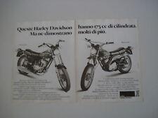 advertising Pubblicità 1977 HARLEY DAVIDSON 175 SX/SS
