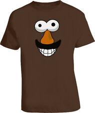 Mr Potato Head Funny RETRO Face Chocolate Brown T Shirt